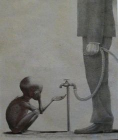 This photo shows no individual rights and no freedom, but it shows the rule of law as opposed to rule of man, as you can see opposite the small boy, the man with all of the power. Capitalism, is nothing but greed and money, a successful business in poverty all over the world, benefiting no one but the leaders.