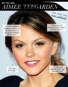 Get The Look: Aimee Teegarden - Celebrity Style and Fashion from WhoWhatWear My Beauty, Beauty Makeup, Beauty Hacks, Hair Beauty, Beauty Ideas, Fresh Makeup, Simple Makeup, Body Makeup, Kiss Makeup