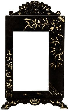 C.1880 Victorian Aesthetic Movement Paint Decorated Picture Frame