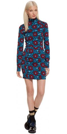 love, love love this dress.  love the cut and the high neckline with the print.  (do not love the 575 price tag)