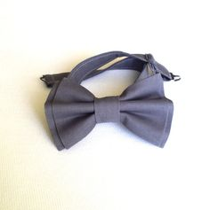 Grey PreTied Bow Tie by DapperandChic on Etsy, $13.50