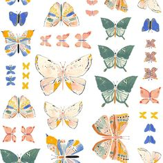 """M A R G A R E T J E A N E on Instagram: """"Butterfly specimens 🦋"""" Butterfly Design, Butterfly Print, A Level Textiles, Bugs And Insects, Color Inspiration, Print Patterns, Birds, Wall Art, Drawings"""