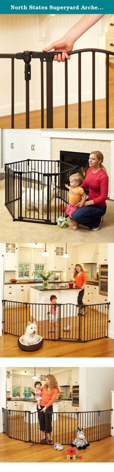 North States Superyard Arched Metal Baby/Pet Gate & Play Yard - Bronze | 4936. North States 3-in-1 Arched Metal Superyard Create a safe and portable play area for your children and pets with this metal Superyard. It keeps your little ones contained and safe when in the home, on the beach or at a busy park. North States offers the most versatile and economical gates and enclosures in the industry. Certified by the Juvenile Products Manufacturers Association for safety, North States gates…