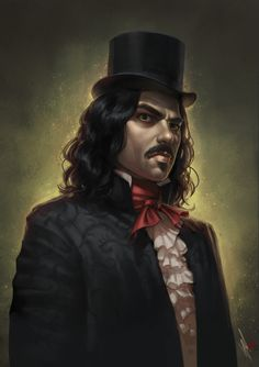Vlad by WarrenLouw What We Do In The Shadows Jermaine Clement magician vampire carnival master top hat armor clothes clothing fashion player character npc | Create your own roleplaying game material w/ RPG Bard: www.rpgbard.com | Writing inspiration for Dungeons and Dragons DND D&D Pathfinder PFRPG Warhammer 40k Star Wars Shadowrun Call of Cthulhu Lord of the Rings LoTR + d20 fantasy science fiction scifi horror design | Not Trusty Sword art: click artwork for source