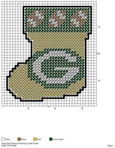 green bay packers made pattern 12 Plastic Canvas Coasters, Plastic Canvas Ornaments, Plastic Canvas Christmas, Plastic Canvas Crafts, Plastic Canvas Patterns, Plastic Craft, Needlepoint Patterns, Cross Stitch Patterns, Green Bay Packers
