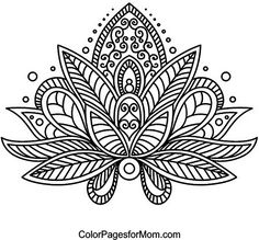Free coloring pages of adult paisley print