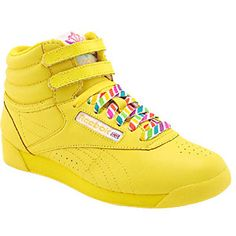 still want some bright yellow or neon green high top reeboks just for fun!