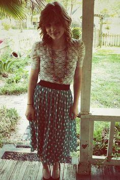 Lace and polka dots :)