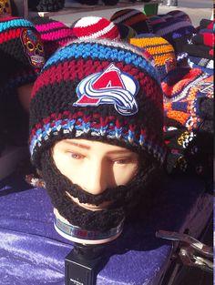 #ColoradoAvalanche #BeardedBeanie #Avalanche #Hockey #AvalancheEmbroideredPatch #NHL DWedgeCreations #Esty http://etsy.me/2nPAehJ via @Etsy
