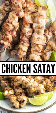 Chicken Satay with Peanut Sauce, easy marinade, keto friendly, very easy to grill the skewers, or baked, or cook in a skillet. Easy healthy gluten free recipe with paleo and whole 30 option, packed with authentic flavors. www.noshtastic.com Whole 30 Chicken Recipes, Low Carb Chicken Recipes, Grilled Chicken Recipes, Gluten Free Chicken, Whole 30 Recipes, Keto Chicken, Chicken Salad, Healthy Gluten Free Recipes, Keto Recipes