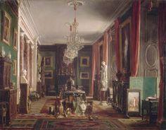 Intérieur du cabinet du comte Emilien de Nieuwerkerke, Directeur général des Musées impériaux, au Louvre, Charles Giraud