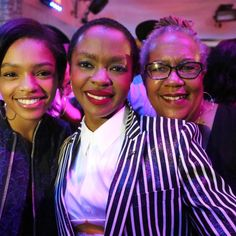 Selah Marley, Lauryn Hill, and Valerie Hill. Photo by Getty Images.-Wmag