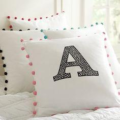 Color Pop Mini Dot Appliqué Pillow Cover #pbteen