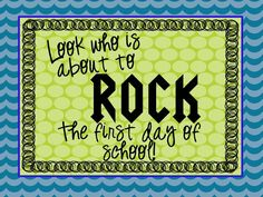 Simply Sprout: You're Going to ROCK!  Bathroom Mirror Sign