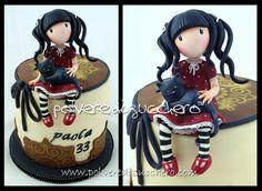 Polvere di Zucchero: cake design e sugar art. Corsi decorazione torte,biscotti,cupcakes e fiori: la mia torta Gorjuss style e tanti auguri a me!!