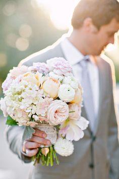 hydrangeas, roses, ranunculus and peonies
