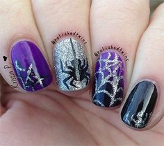 Halloween is everyone's favorite time of year. And Halloween nail art is so much fun! Check out these spooky ideas for Halloween nails to get your scare on! Fancy Nails, Love Nails, Diy Nails, Pretty Nails, Coffen Nails, Matte Nails, Glitter Nails, Acrylic Nails, Halloween Nail Designs