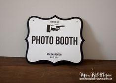 Custom Wedding Signs, Directional Signs, Bike Trails Sign, Bathroom Signs, Wedding This Way Signs. $8.50, via Etsy.
