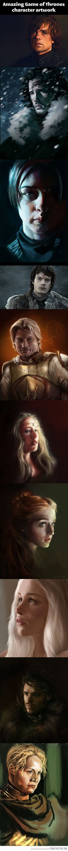 Game of Thrones paintings…