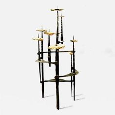 InCollect is the new way to find and buy exceptional art, antiques and design. Powered by a community of art and design enthusiasts and leading professionals Brutalist Furniture, Modern Furniture, Brutalist Design, Menorah, Candelabra, Metal Art, Art Decor, Concrete, Candle
