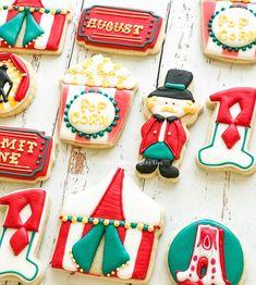 Under the big top #circuscookies Circus Cookies, Big Top, Blessings, Blessed, Lisa, Sugar, Baking, Desserts, Food