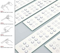 I'm sure you recollect seeing Braille staplers and dispensers here on YD. What we have today is the Braille Tape; I think it's the simplest and Le Braille, Bubble Letters, Special Education, Teacher Education, Teacher Resources, Literacy, Blinds, Tape, Teaching