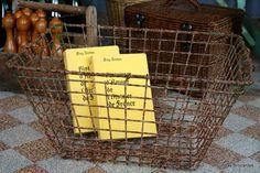 Vintage Wire Oyster Basket 85