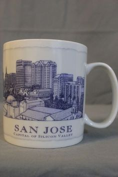 Starbucks San Jose Capital Silicon Valley 18 oz Architect Series Coffee Mug NEW $34.99