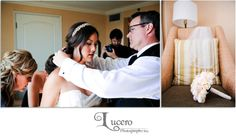Have your dad help you get ready! Photography by: Lucero Photography, Inc. www.Lucerophotography.com #wedding #HyattHuntingtonBeach #SeaCliffCountryClub
