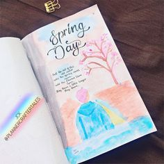 Spring Day watercolor painting on my BTS Season's Greetings