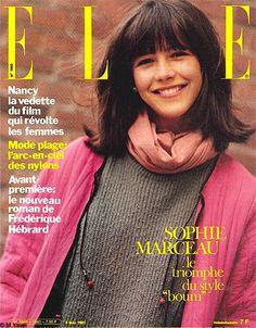Sophie Marceau et ELLE : la belle histoire People couverture sophie marceau mike yavel boum 1981