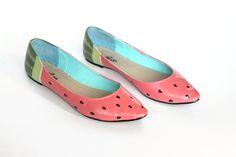 watermelon ballet flats | etsy