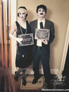 Silent Film Stars Couple Costume - Halloween Costumes 2013