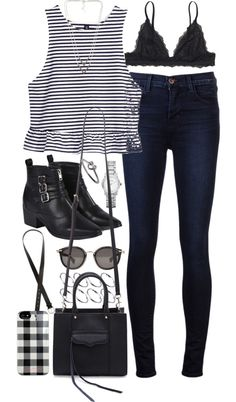outfit for a day out by im-emma featuring skinny jeans