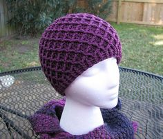 Diamond Ridges Hat: #free #crochet #hat #pattern