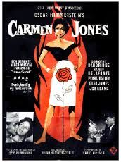 An image of a theatrical poster for the film Carmen Jones. The poster depicts Dorothy Dandridge, as Carmen Jones, standing provocatively in front of a flame. Old Movies, Great Movies, Hip Hopera, African American Movies, Bogie And Bacall, Concert Posters, Movie Posters, Dorothy Dandridge, Film Images