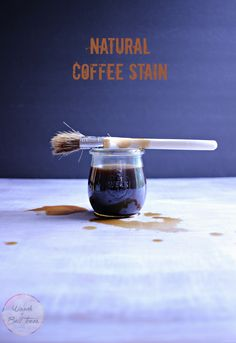 Make a simple DIY natural coffee stain that's food safe, perfect for wood projects that will involve edibles!