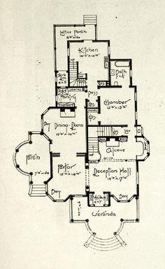Edwardian floor plan 1st floor.. 1905