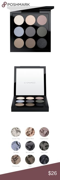 New MAC Eyeshadow Palette with 9 Shades Brand New MAC Eyeshadow Palette with 9 Shades SHADE DESCRIPTION  Silver Fog: Silver gray (Lustre)Blonde Mink: Pale khaki w/sparkles (Lustre)Copper Plate: Muted midtone gray (Matte)JG Gray: Frosty gray blue (Frost)Mulled Over: Matte cool blue gray (Matte)Cast Iron: Matte charcoal (Matte)Cloudscape: Khaki (Velvet)Club: Redbrown with green pearl (Satin)Black Tied: Black with silver sparkle (Velvet) All reasonable offers are considered and appreciated No…