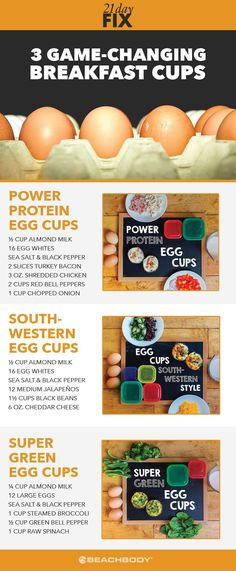 Mornings can be hectic. Whip up any of these easy breakfast (or lunch!) egg muffin recipes for 21 Day Fix approved nutrition on-the-go! the best recipes for busy people // healthy breakfast recipes // egg cup recipes // 21 day fix recipes // 21 Day Fix breakfast recipe // Beachbody // Beachbody Blog // #eggcups #eggcuprecipes #21dayfix #21dayfixrecipes