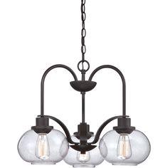 Trilogy 3-light Old Bronze Dinette Chandelier - Overstock™ Shopping - Great Deals on Quoizel Chandeliers & Pendants