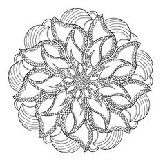 Mandala made by me Pattern Coloring Pages, Free Adult Coloring Pages, Mandala Coloring Pages, Coloring Book Pages, Quilling Patterns, Tangle Patterns, Mandala Pattern, Mandala Design, Mandala Painting