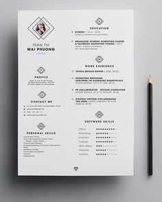 Free PSD Resume Template                                                                                                                                                                                 More