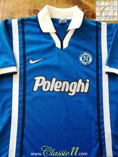 1997 98 Napoli Home Football Shirt (M). Football JerseysIconsShirtsFootball  ShirtsSoccer ... fb4c69cea