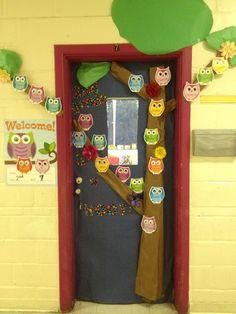 Hoot! Owl classroom door