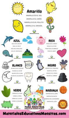 Poemas y canciones para aprender los colores en preescolar Spanish Lessons, Learning Spanish, Spanish Conversation, Disney Olaf, Preschool Songs, Toddler Art, Early Childhood, Homeschool, Classroom