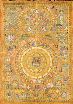 A Jain Tantric Diagram with Pratyangira India, Rajasthan, Century This worl. A Jain Tantric Diagram with Pratyangira India, Rajasthan, Century This world is really awesome. The woman who m Tantra Art, Spiritual Images, Tibetan Art, Celtic Tree, Hindu Art, Indian Art, Indian Gods, Indian Paintings, Sacred Art
