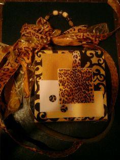 Leopard cigar box purse by Cyndi Greer