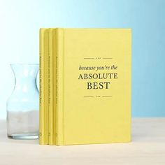 Because You're the Absolute Best features a rare combination of humor, wit, and affection. Each page offers little moments of delight and honoring sentiments that are both unexpected and whimsical. Best Friend Gifts, Gifts For Friends, Mother's Day Gift Card, Send A Card, Grandparent Gifts, Very Merry Christmas, Leather Journal, Book Gifts, Thank You Gifts