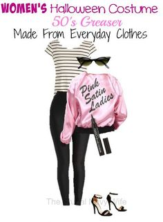 50's Greaser Women's Halloween Costume - Made with Everyday Clothes! - The Frugal Navy Wife